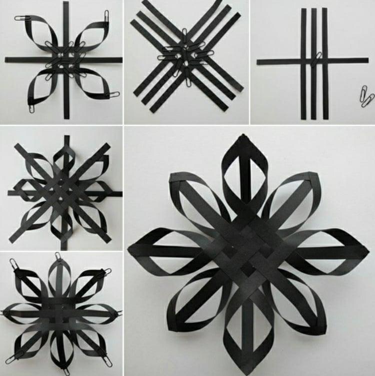 sterne basteln mit kindern anleitungen und inspirierende ideen. Black Bedroom Furniture Sets. Home Design Ideas