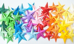 Sterne basteln mit Kindern DIY