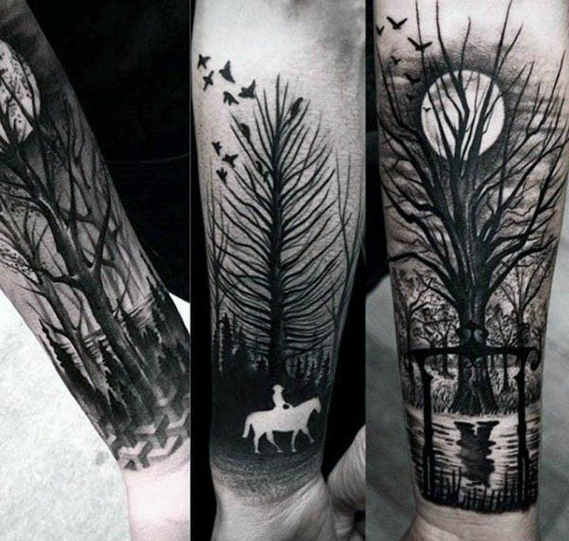 Wald Tattoo 3 tolle Designideen