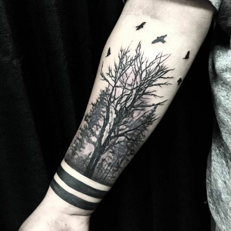 Wald Tattoo Armband Mann