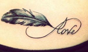Tattoo Unendlichkeitszeichen Liebe Feder tolles Design