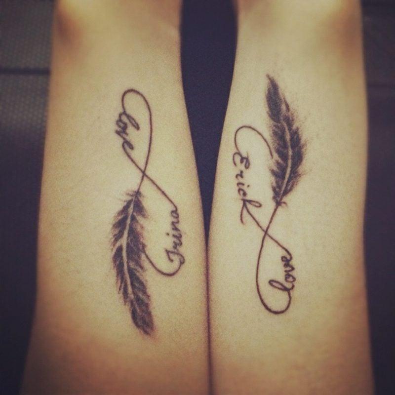 Tattoo Unendlichkeitszeichen Paar romantisch
