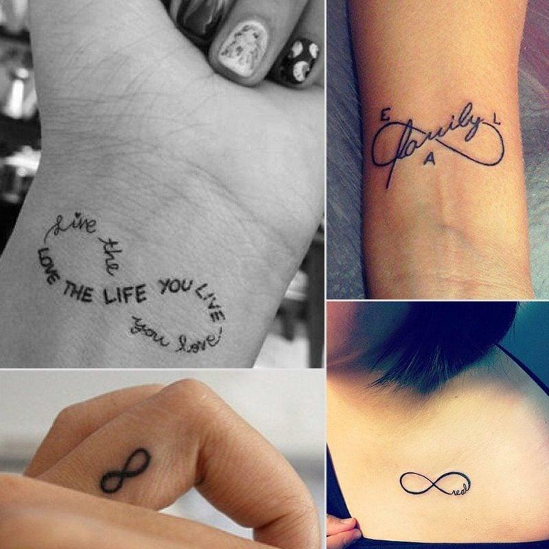 Tattoo Unendlichkeitszeichen Designs inspirierend