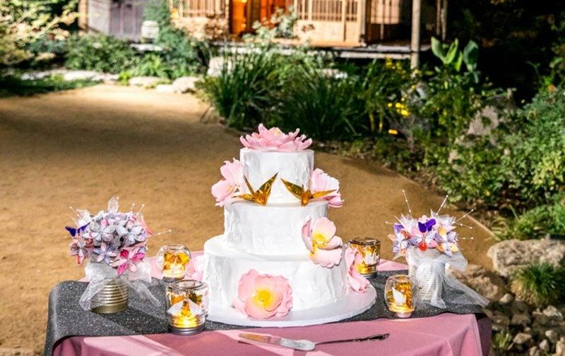 Bastelideen für Erwachsene Vogel Origami Torte Deko Hochzeit