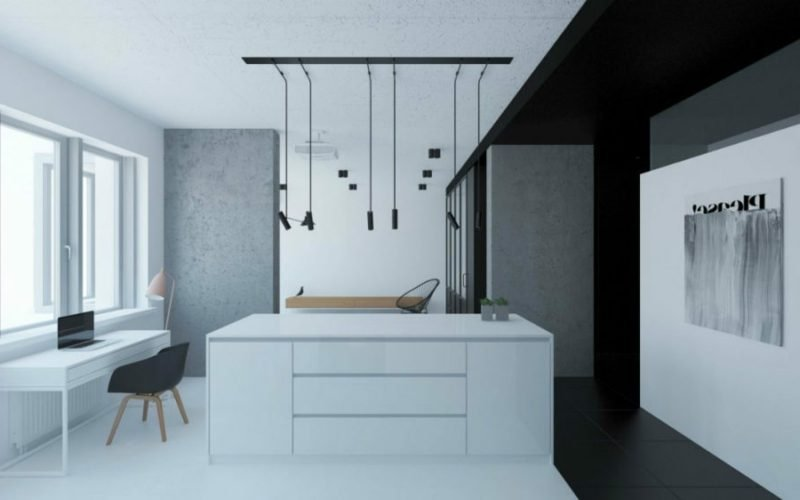 Betonwand moderne Küche