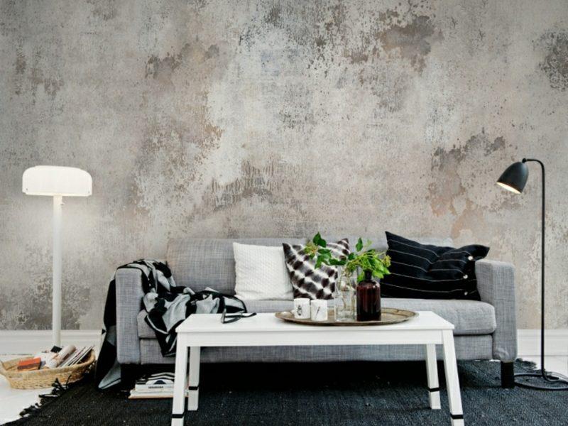 Betonwand mehr industrieller Schick in der Wohnung