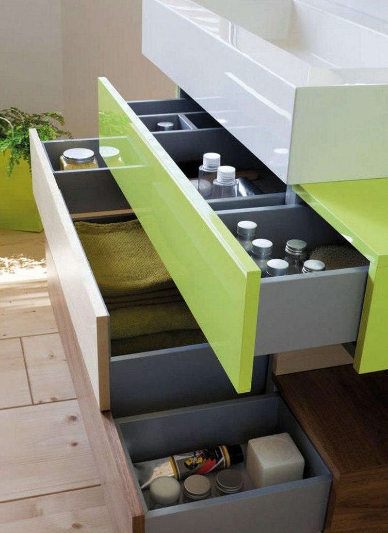 Waschbecken mit Unterschrank praktische Schubladen