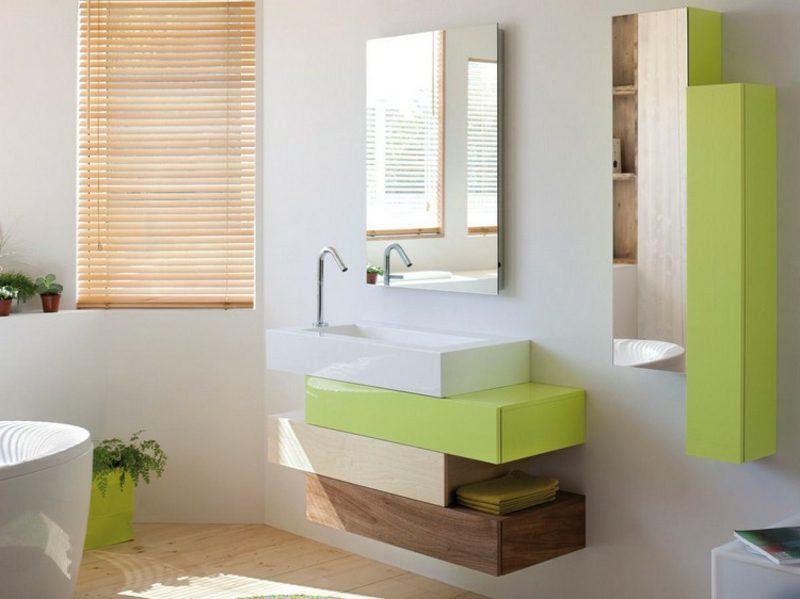 Waschbecken mit Unterschrank stilvoll vier Teile