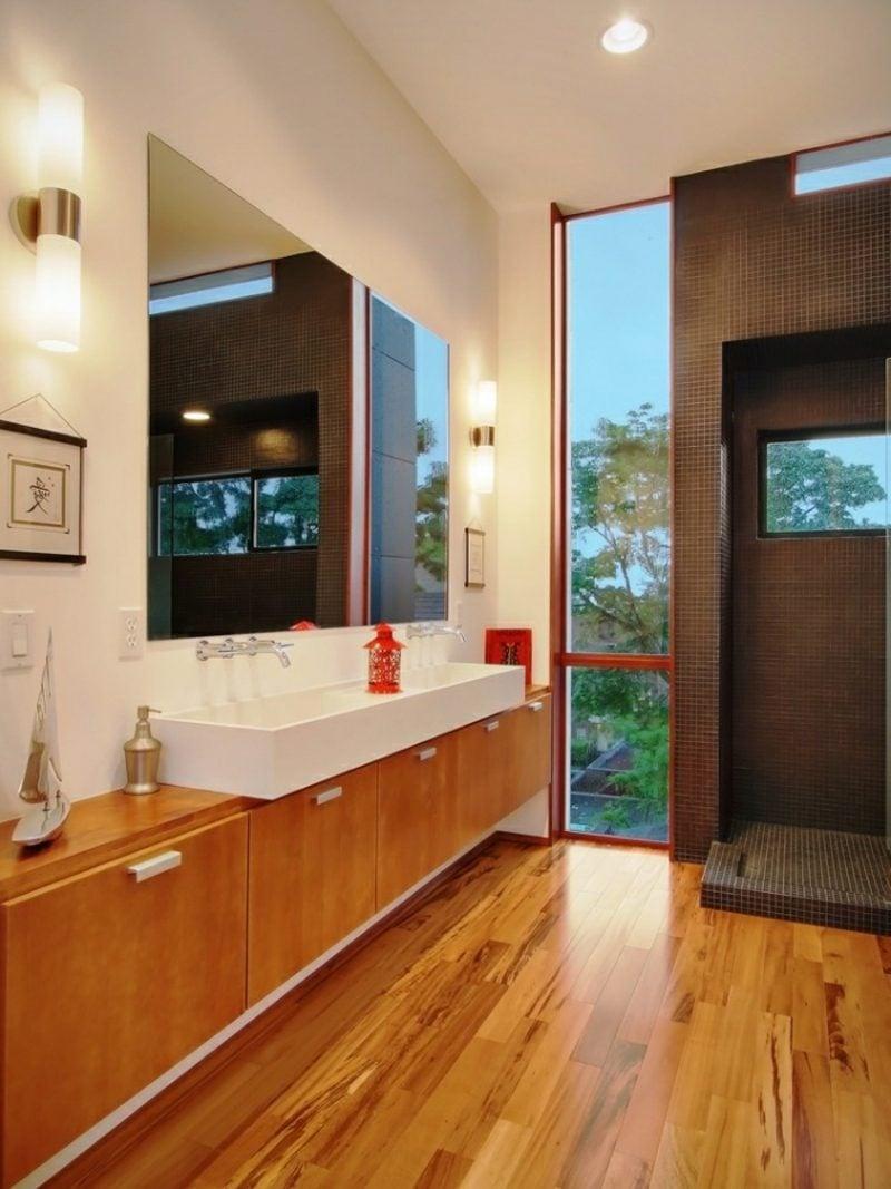 Waschbecken mit Unterschrank praktisch Laminatfronten