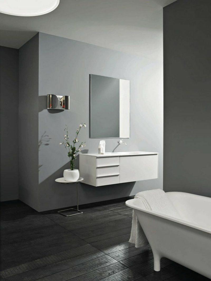 Waschbecken mit Unterschrank weiss minimalistisch stilvoll
