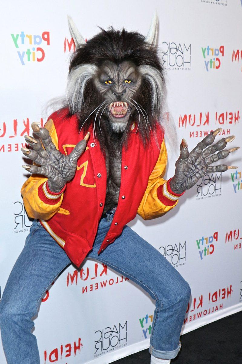 Halloween Kostüm Heidi Klum Werwolf