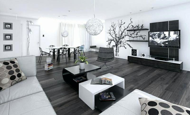weiβes Wohnzimmer moderne minimalistische Einrichtung Essbereich