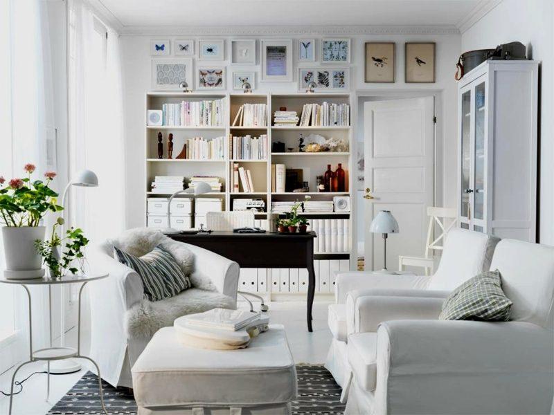 weiβes Wohnzimmer wohnliches Ambiente skandinavisch