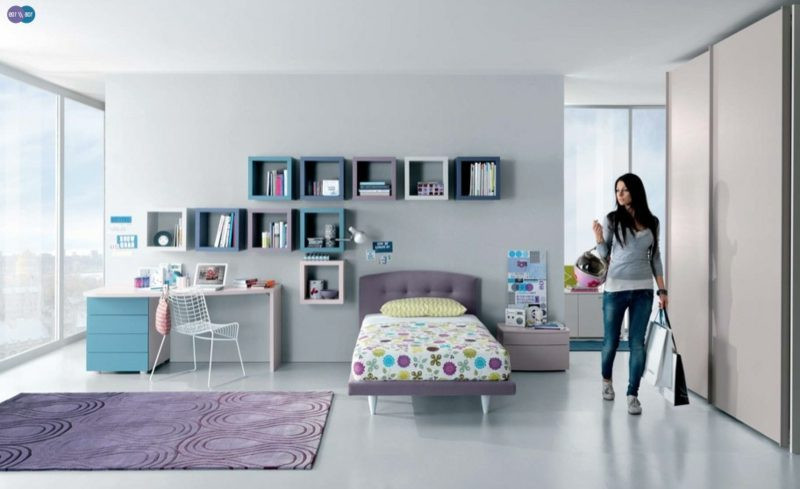 Teenager Zimmer einrichten Mädchen Wandregale modern