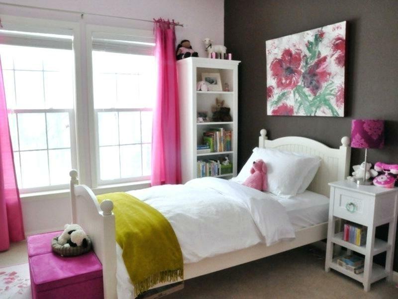 Teenager Zimmer einrichten Mädchen Akzente rosa grün