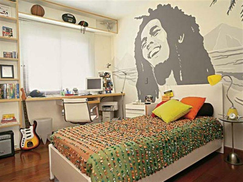 Teenager Zimmer einrichten Wandtattoo Musik