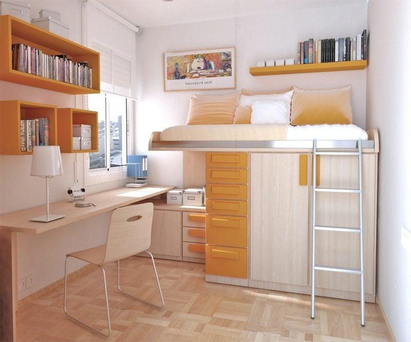 Teenager Zimmer einrichten klein platzsparende Möbel