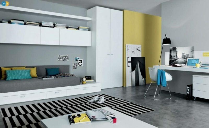 Teenager Zimmer einrichten Neutralfarben