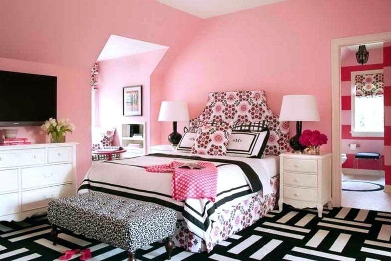 Teenager Zimmer Einrichten Wandfarbe Rosa