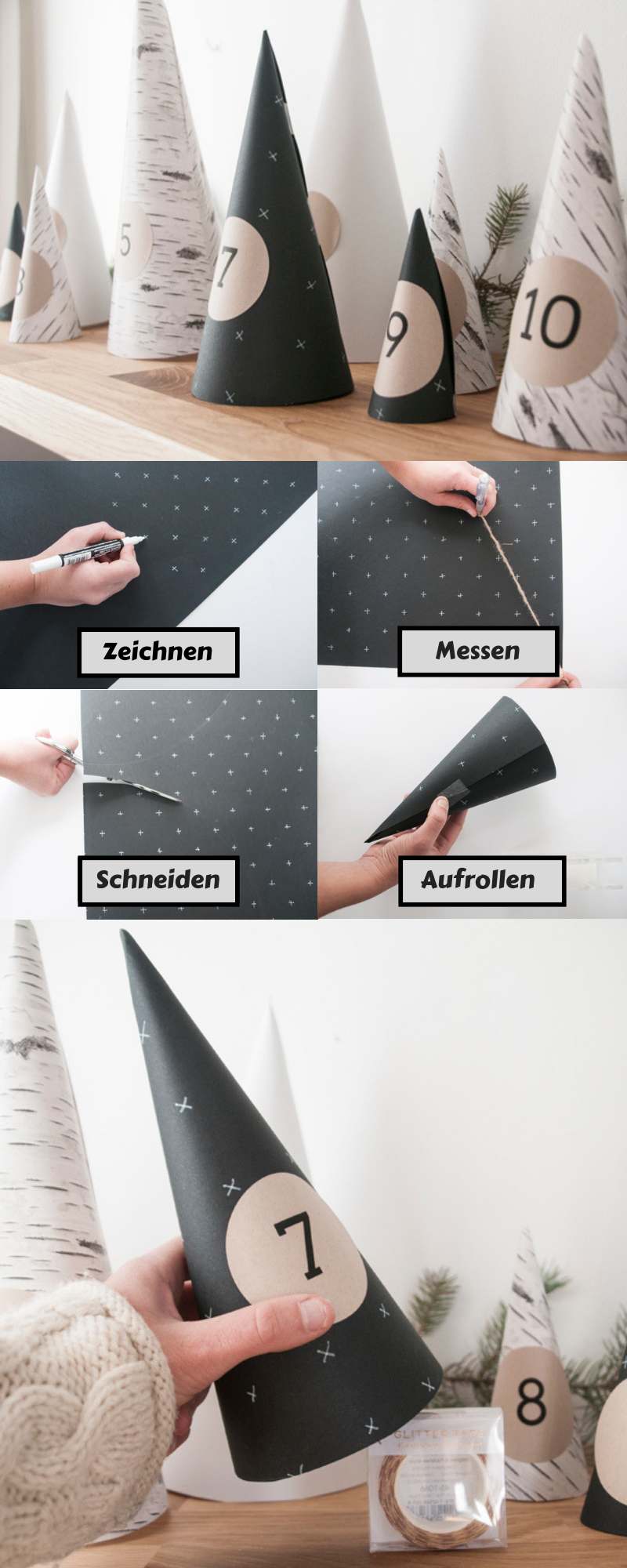 DIY Idee für Adventskalender basteln einfach und schnell