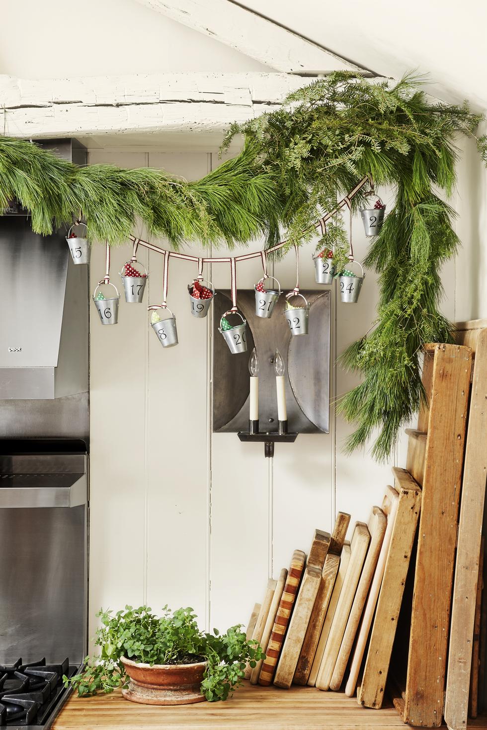 Außergewöhnliche Adventskalender Girlande selber basteln