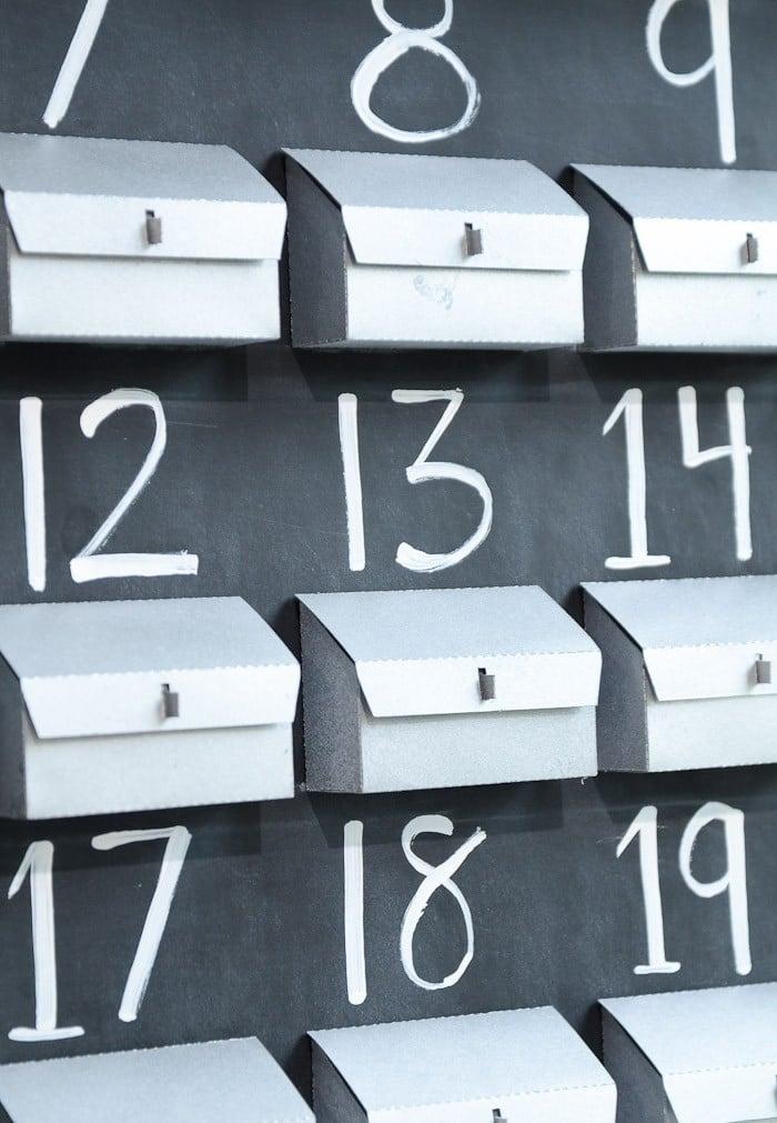Toller Adventskalender Basteln einfach und schnell
