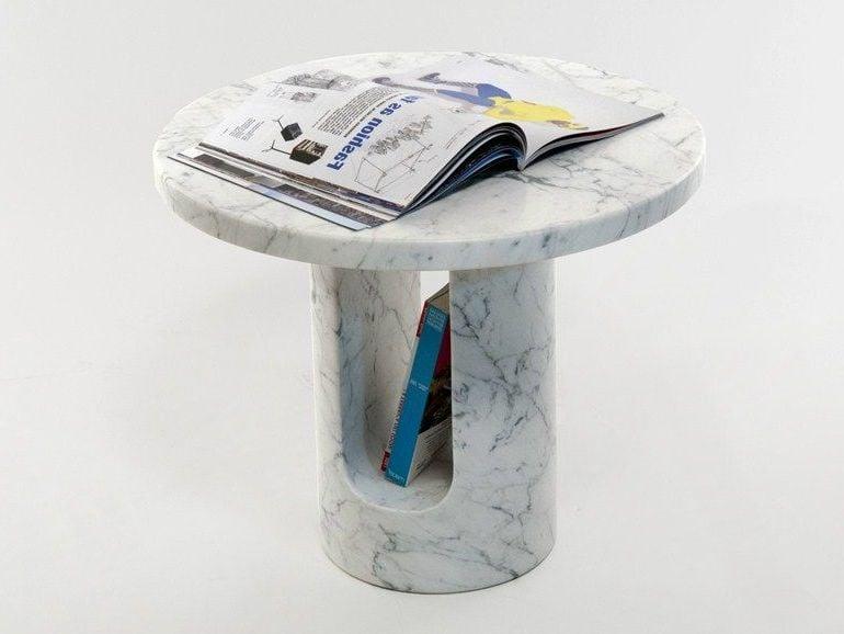 Marbel Zeitungsständer mit Ablage für Zeitschriften