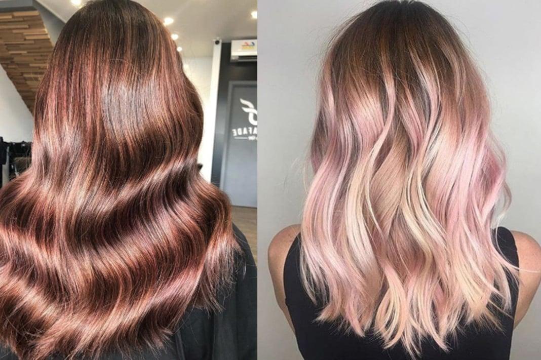 Braune Haare färben - setzen Sie auf metallische Tönen