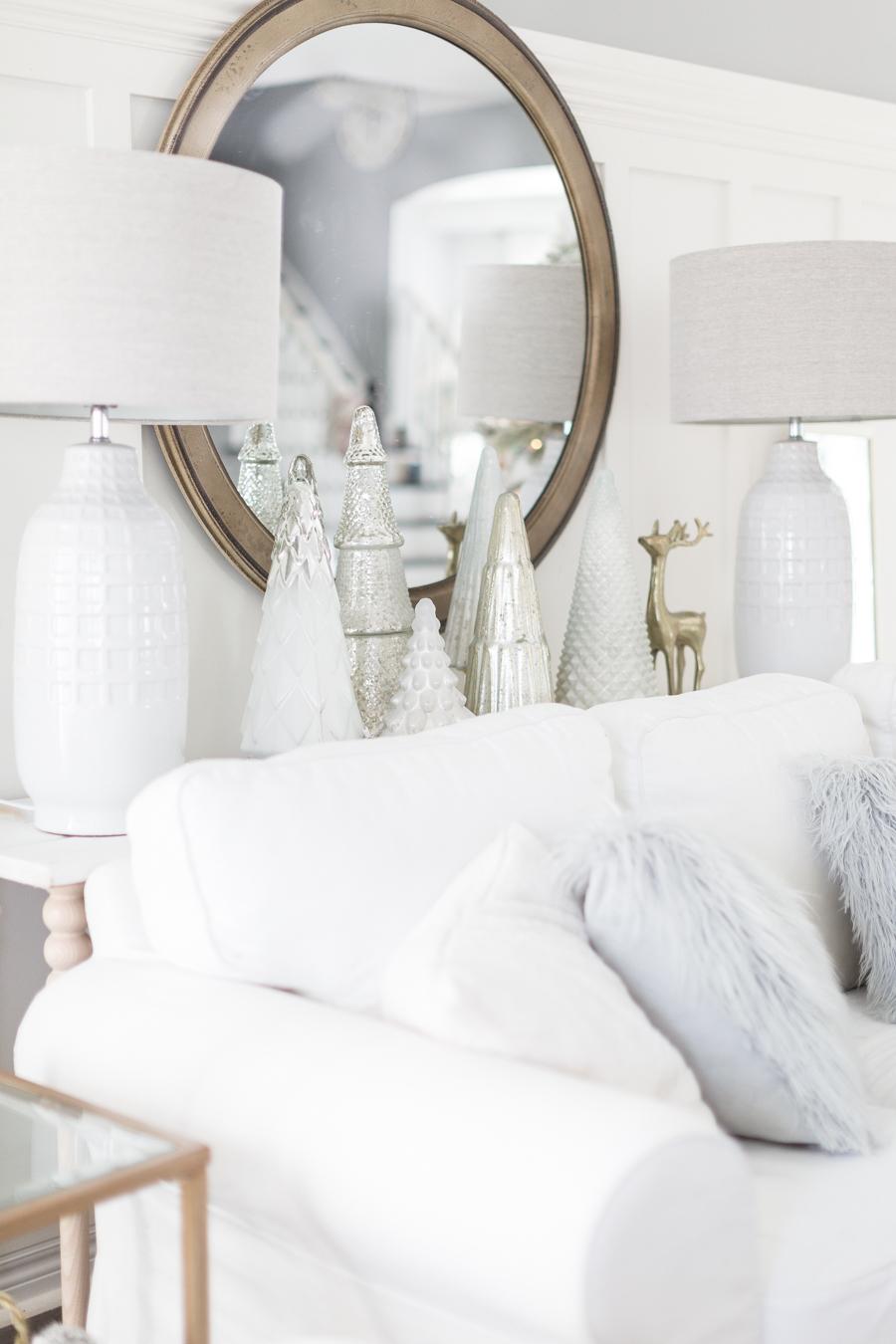 Tolle Ideen für weiße Deko Weihnachten im Wohnzimmer