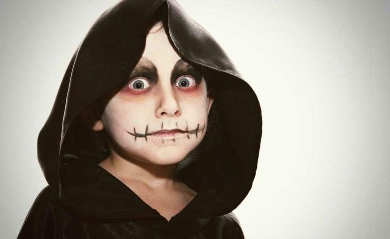 Halloween Schminken Kinder gruselige Ideen