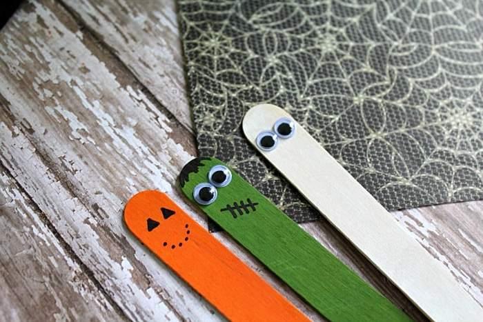 Halloween Ideen mit Eis-Stäbchen