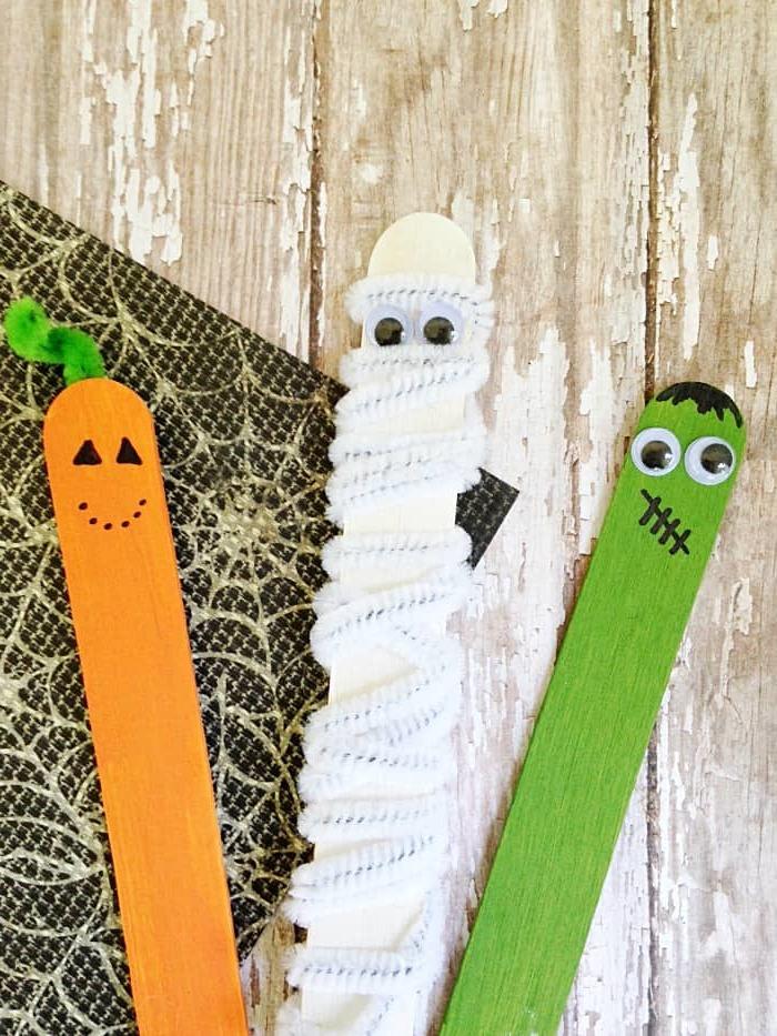 Halloween Deko basteln mit Kleinkindern