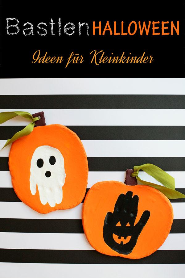 Halloween Basteln mit Kindern: Halloween Deko aus Salzteig basteln