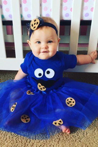Halloween Kostüm Ideen: Vorsicht, Vorsicht! Das Cookie-Monster kommt und sucht nach mehr Coockies!