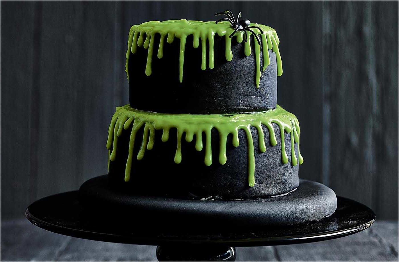 Kuchen zu Halloween Spinnen Torte selber machen