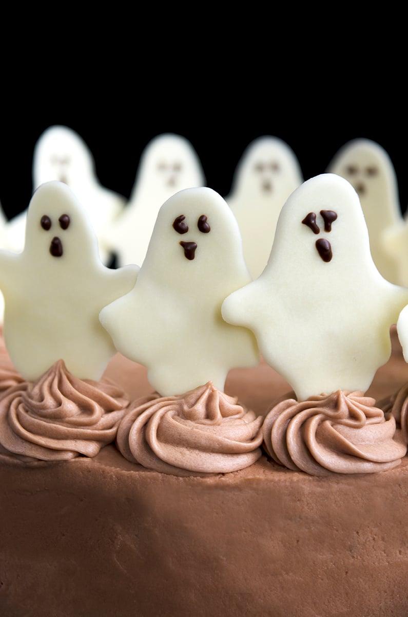 Geister Halloween Kuchen selber machen - die besten Halloween Backrezepte