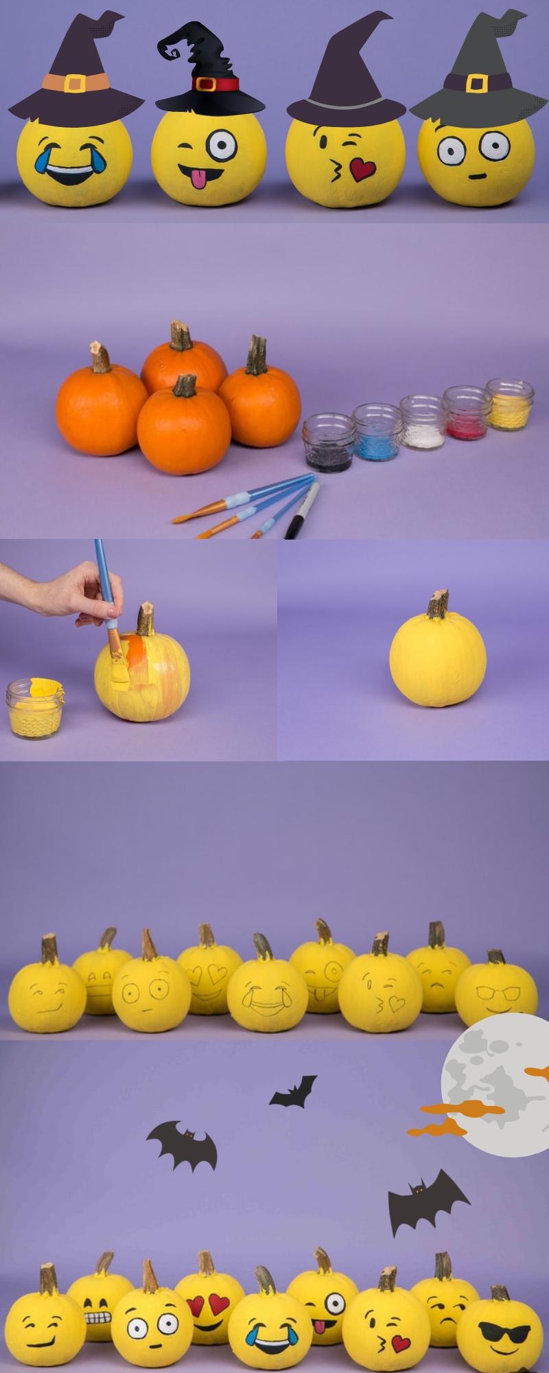 Halloween Kürbis Vorlagen zum Malen:Das Spiel der Farben ist eröffnet