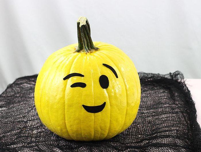 DIY Halloween Kürbis ohne Schnitzen