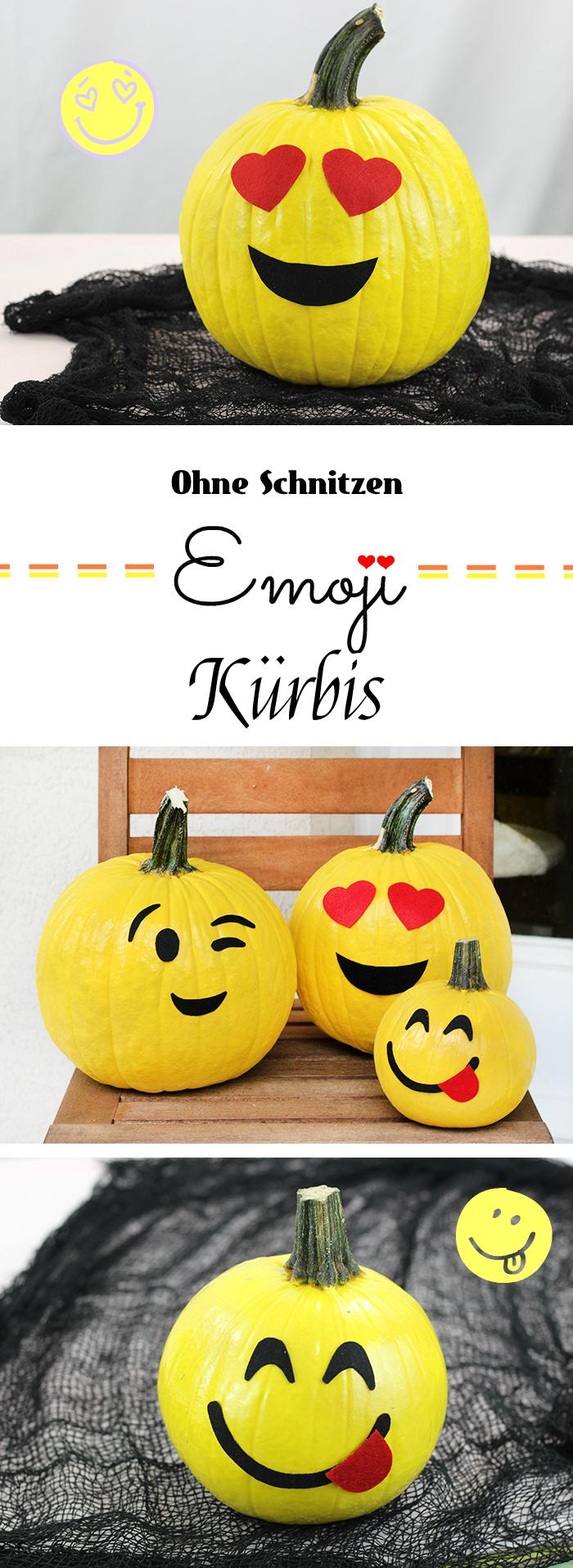 Halloween Bastelvorlagen zum Ausdrücken: Emoji Kürbis Gesicht
