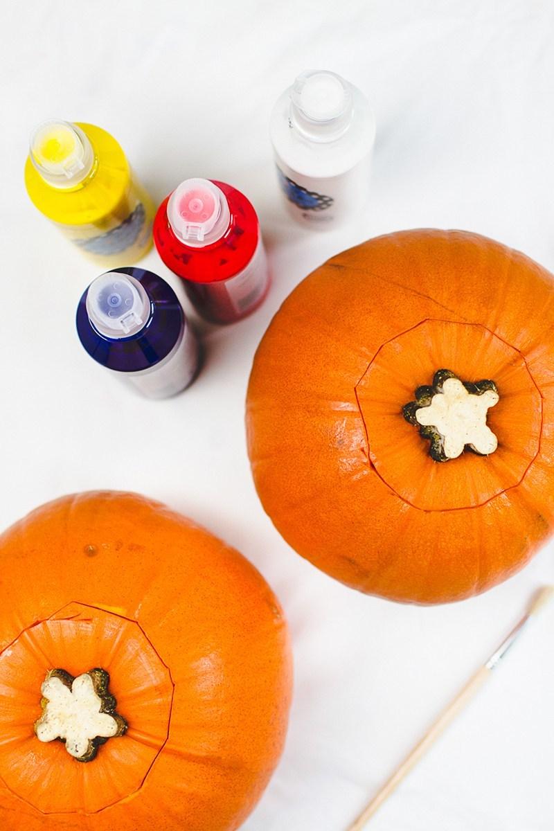Emoji Halloween Kürbis schnitzen