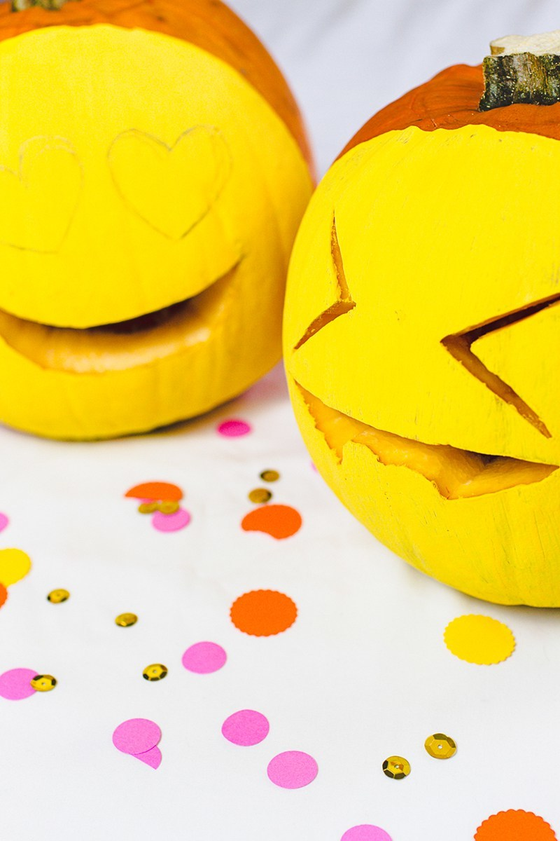 Emoji Halloween Kürbis Schnitzvorlagen