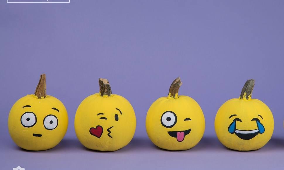 Emoji Halloween Kürbis Vorlagen