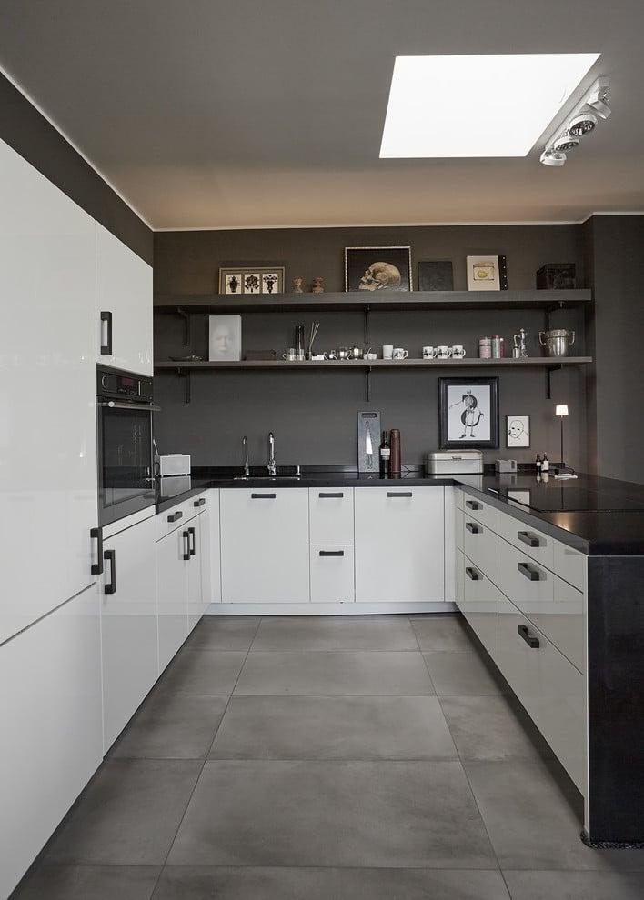 U Küchenzeile für kleine Räume