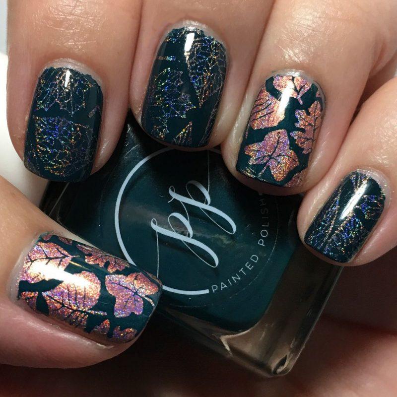 №8 Fingernägel Design mit Glitzer für den Herbst