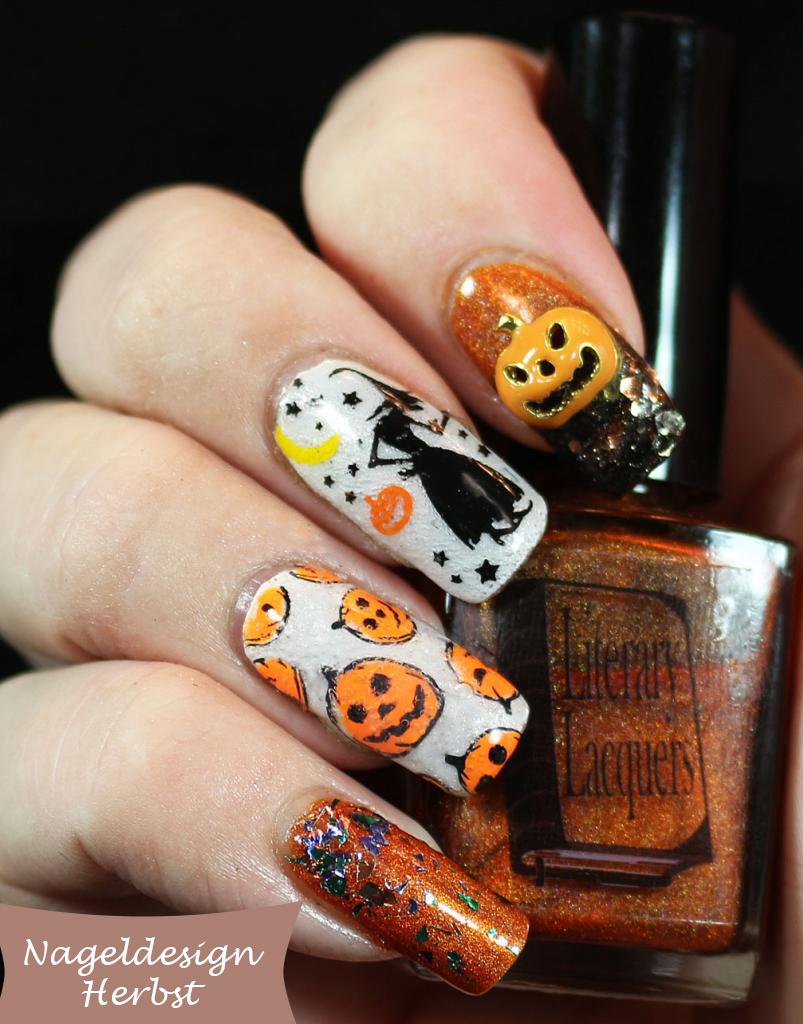 Nageldesign Herbst und Halloween