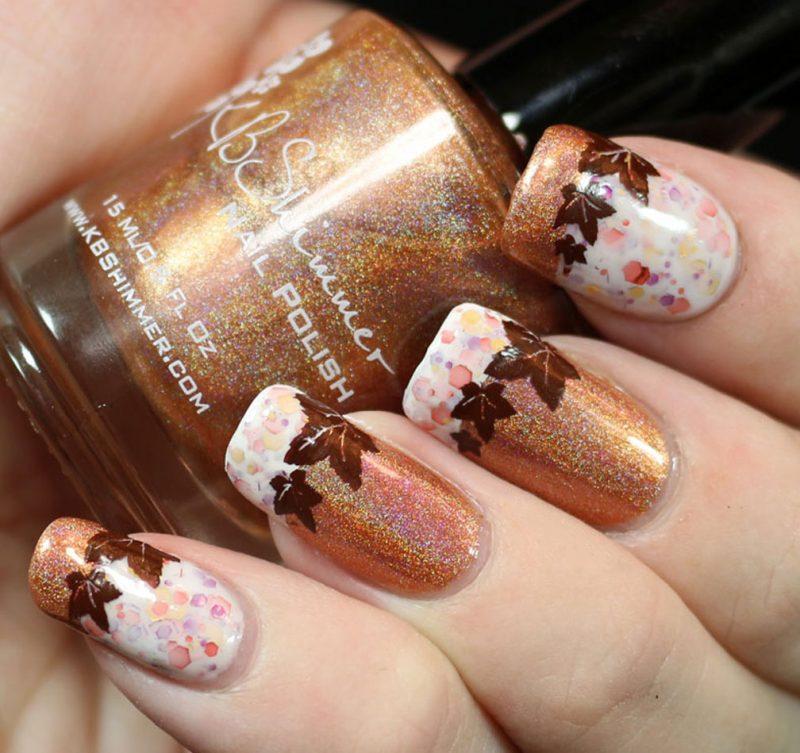 №6 Fingernägel Design für den Herbst