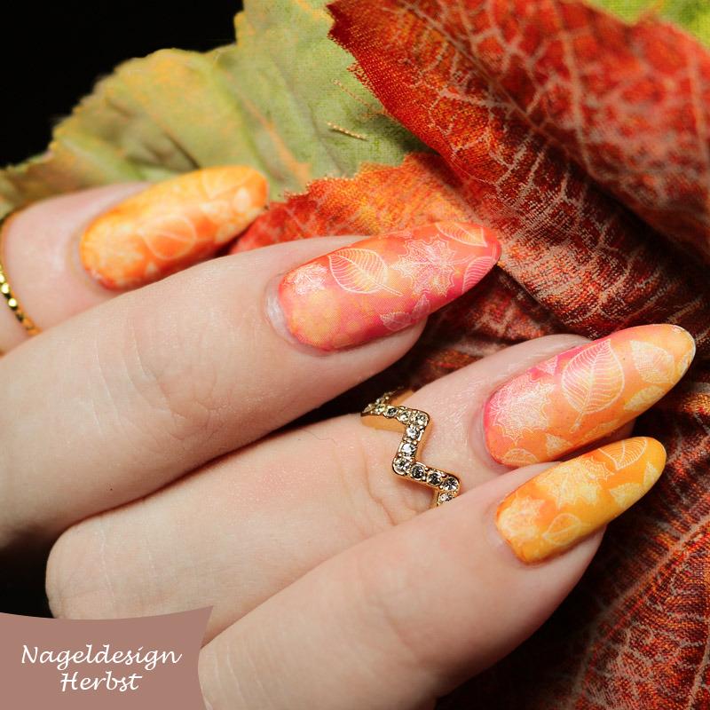 №7 Nägel Muster Design für den Herbst