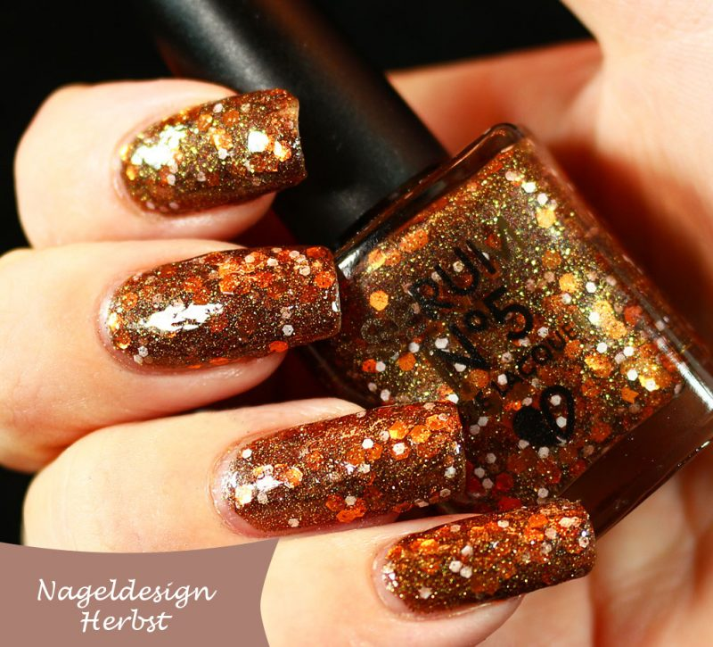 Orange And Gold Nail Designs