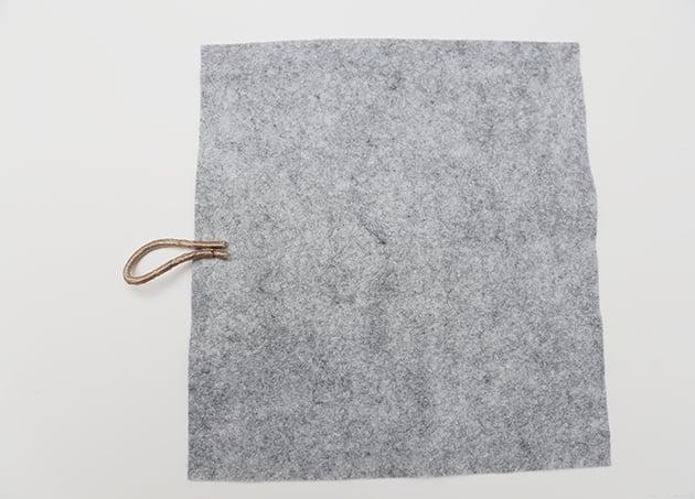 Das stille Buch Binden DIY Anleitung: Verschluss nähen