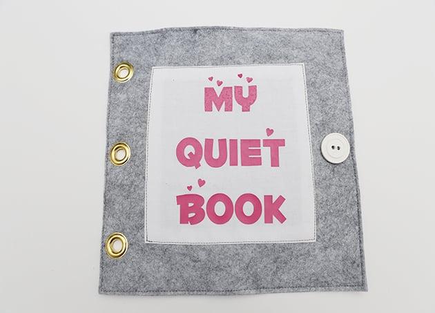 Titelseite vom stillen Buch basteln
